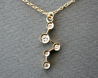 SALE!!! Gold Cubic Zirconia Constellation Necklace - modern jewelry, delicate everyday fashion jewelry