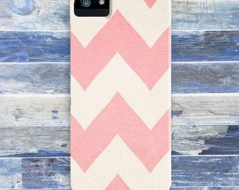 Sweet Kisses  - Pastel Pink Chevron Iphone 4, 4s, 5 & Samsung Galaxy s3, S4 Case / cover  - Girly, Feminine, Zig Zag, stripes,