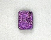 21x28mm Dichroic Glass Cabochons - Stary Magenta Color - TR134