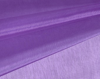 Grape Purple Organza Fabric by the Yard, Wedding Decoration Organza Fabric, Sheer Fabric - Style 1901