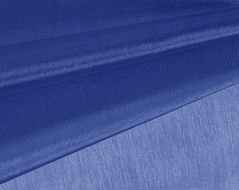 Navy Blue Organza Fabric by the Yard, Wedding Decoration Organza Fabric, Sheer Fabric - Style 1901