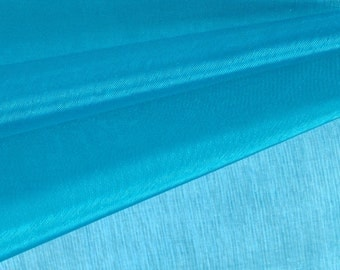 Turquoise Organza Fabric by the Yard, Wedding Decoration Organza Fabric, Sheer Fabric - Style 1901