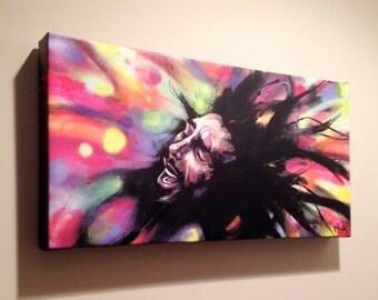"Marley Art - Bob Marley Art - Wall Art - Canvas Reproduction of ""Marley"" by Black Ink Art"