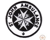 "Doctor Who TARDIS ""St. John Ambulance"" Inspired - Iron-on Patch"