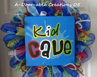 Moving Sale 50% OFF...KID CAVE Wreath