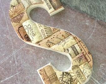 Small CUSTOMIZED Cork Letter - A thur Z - Wedding - Home Decor - Gift