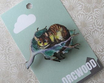 Wood Brooch - Cheshire Cat (Alice in Wonderland)