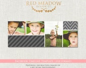 Wall of Stripes & Images -  Facebook Timeline Template - photography -  psd - INSTANT download  - FBT BTS