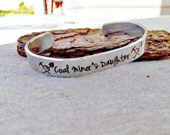 Coal Miner's Daughter Bracelet - Coal Miner's Daughter Jewelry - Coal Miner Jewelry - Coal Miner Bracelet - Coal Miner's Daughter