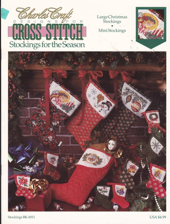 Designs for cross stitch christmas stockings large stockings for Charles craft christmas stockings