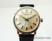 Andre Dior 1960's Stainless Steel Gents 17 Jewel Manual Watch