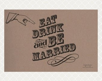 Be Married Paper Placemats