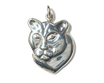 Cougar Pendant Sterling Silver Mountain Lion Wildlife Pendant Mt Lion Nature Jewelry