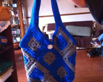 Crochet lined tote