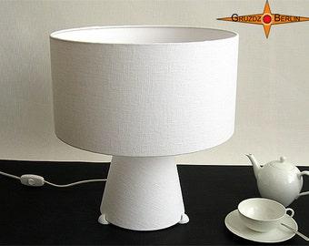 Floor lamp white table lamp BIANCA white linen lamp