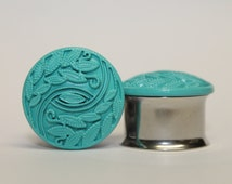 Clearance: LAST ONE! Sea Foam, Vine and Eye Plugs, gauges 3/4,  7/8