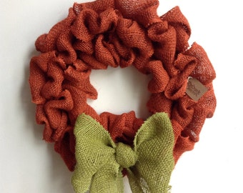 Burlap Fall Wreath, Halloween Wreath, Pumpkin Wreath