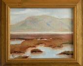 Baylands Impressions - California landscape plein air 10x8 oil painting framed