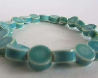 Turquoise Ceramic Bracelet
