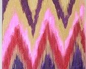 Autumn, 12x12 Original Ikat Chevron Painting