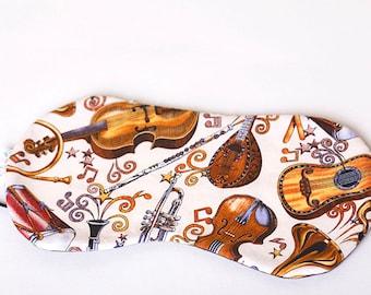 Musical Instruments Sleep Shade Eye Mask with black EyeMask, SleepMask