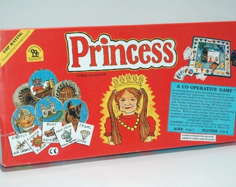 Princess a Co Operative Game from Family Pastimes 1986 w some NEW cards