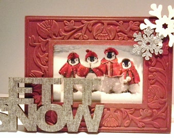 Snowflake Picture Frame / Let It Snow.