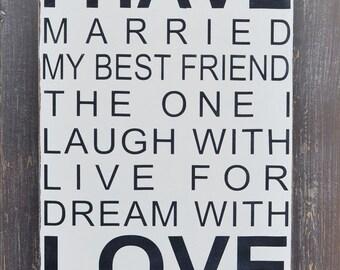 Wedding Gift, Anniversary gift, Custom Wedding Sign, Personalized Engagement Gift, Engagement Present, Bridal Shower Gift