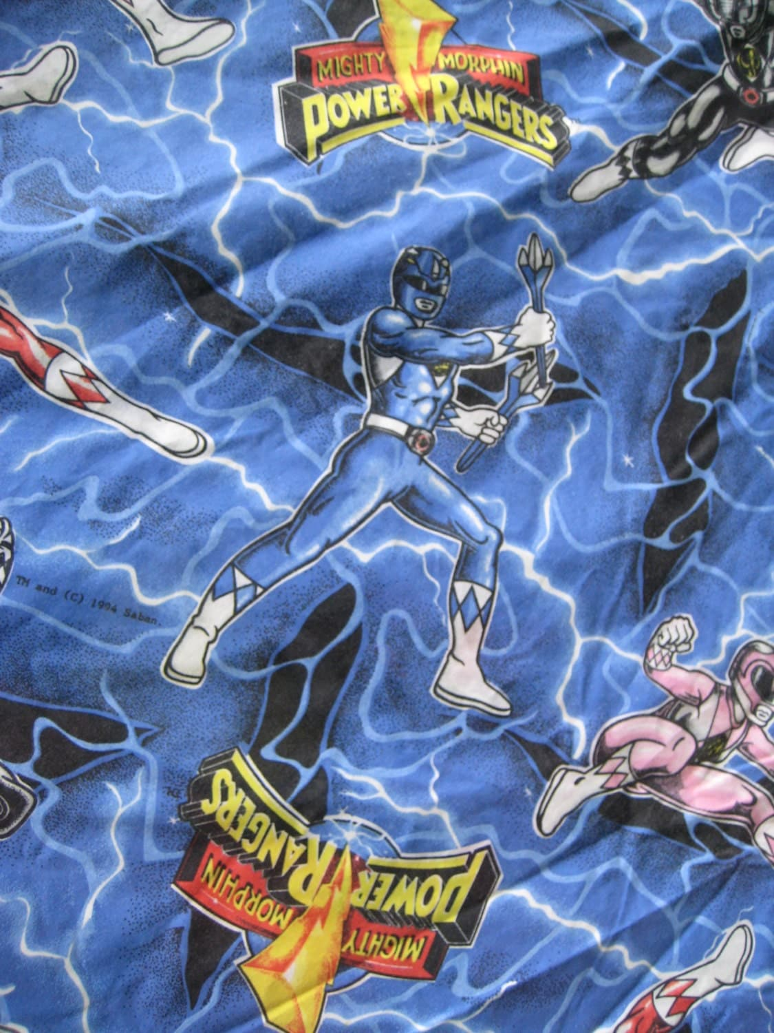 Power Rangers Bedroom: Vintage Mighty Morphin Power Rangers Bedding Cover For Duvet