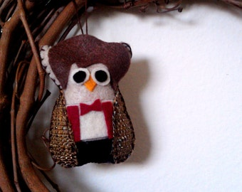 Doctor Who Owl Ornament / Owl in Doctor Who Clothing / Matt Smith Costume / Christmas Ornament