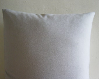 """18"""" by 18"""" Soft Grey 100% Wool Pillow Cover"""