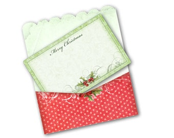 Printable Christmas Envelopes and Cards Instant Digital Holiday Download