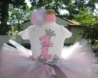 Crown number personalized tee / bodysuit