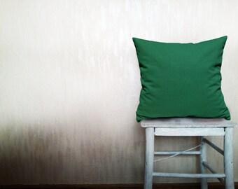 Outdoor pillow decorative throw pillows emerald pillow cover throw pillow green throw pillow natural linen throw pillow cover 22x22 inches