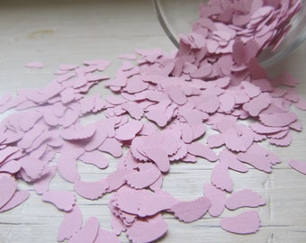 Pink Baby Feet Confetti, Baby Shower Table Decoration - 1000 Pieces, 2 oz
