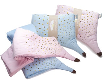 baby twins blanket and pillow organic cotton set