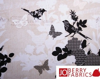 Birdsong Birds and Butterflies Fabric