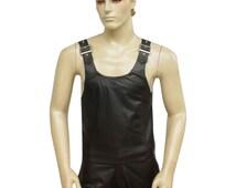 Leather Vest With Adjustable Buckles BVAN002