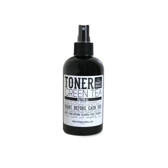 Green Tea Toner  - Vegan, Natural Non-Drying Toner for Sensitive Skin with No Fragrance - 8oz