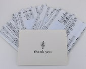 "Sheet Music Envelopes and ""Thank You"" Note Cards, Set of Five"