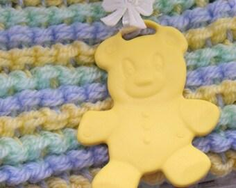 Teddy Dangle  Pram Blanket