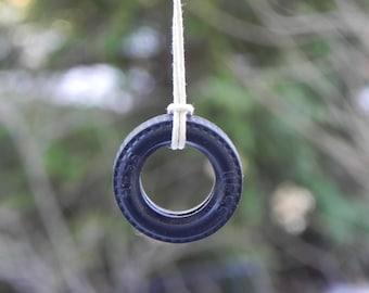 Tire Swing  miniature accessiories for fairy garden, terrarium, miniature garden, or dollhouse playground
