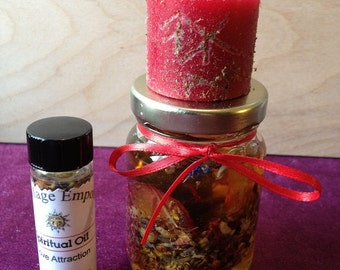 Honey Jar Spell Kit - Custom Prepared - Hoodoo, Voodoo, Magick, Rootwork, Conjure