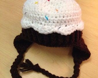 3 months crochet cupcake hat