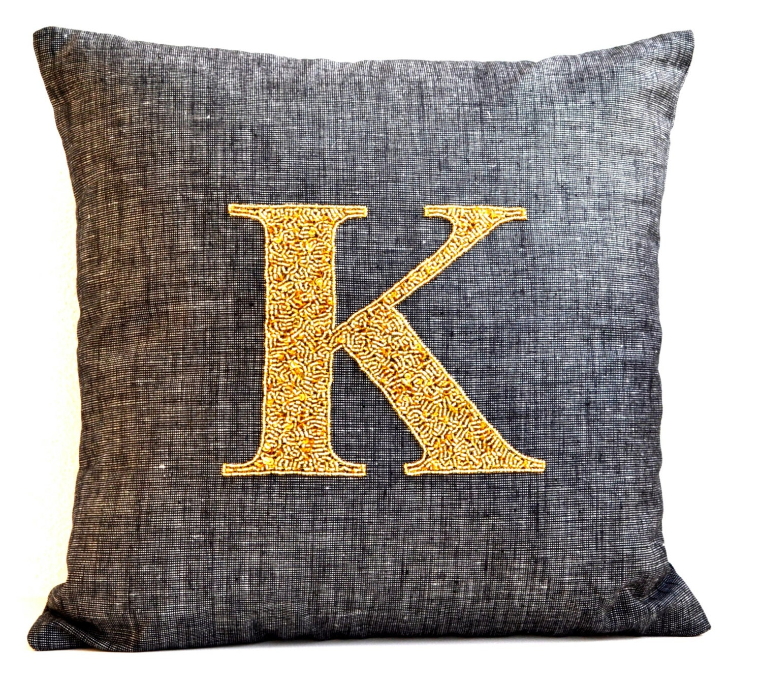 French Linen Pillow Cover Personalized Throw Pillow Case