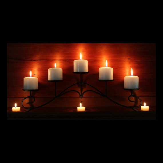 Fireplace Candelabra Flat black for fireplace mantel or