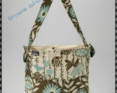 Brownie Gifts Blue and Brown Birds Diaper bag only