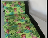 Pillow Bed with Dora the Explorer fabric, Daycare Mat, Pillow bed cover, Children's Pillow Bed, Pillow Mattress, Sleepover Bed
