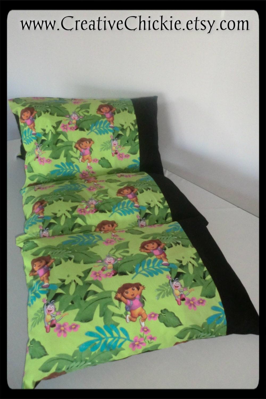 Pillow Bed With Dora The Explorer Fabric Daycare Mat Pillow