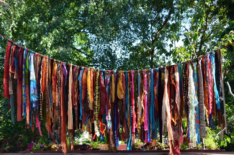Bohemian Hippy Garland 5 1 2 Feet Long Ribbon Length From